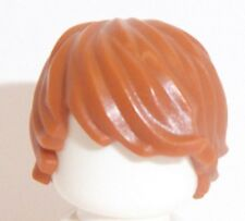 Lego Boy Wig Hair x 1 Dark Orange for Minifigure