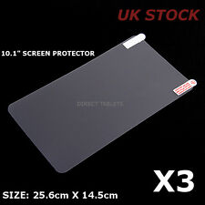 3x 10.1 Inch Screen Protector Allwinner Rockchip MediaTech Android Tablet-UK