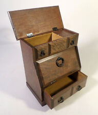 """Vintage Wood Schmid Jewelry Box Music Box Plays """"Games That Lovers Play"""""""