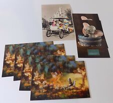 lot of 7 Walt Disney Classic Collection 4 Bambi 2 Dumbo 1 Magic Kingdom Postcard