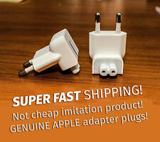 Apple GENUINE ORIGINAL EU Europe Plug MacBook iPhone iPad 2 pin adapter DUCKHEAD