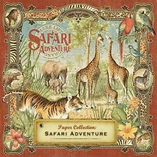 Graphic 45 SAFARI Adventure 12 Sheets 12x12 Paper Collection Jungle Africa Tiger
