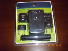 Protege international travel converter set adapter set black
