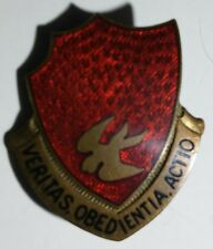 "WW2 46 Field Artillery Battalion Unit Crest D.I. -German Made- Assman ""A-708"" PB"