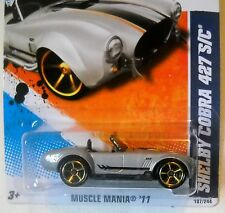 2011 Hot Wheels #107 MUSCLE MANIA * SHELBY COBRA 427 S/C * GRAY COLOR VARIANT