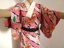 Vintage authentic Japanese jyuban for kimono, for women, mixed colours (H699)