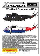 Xtra Decals 1/72 WESTLAND COMMANDO HC.4 British Helicopter