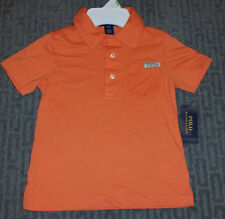 Ralph Lauren Boys Size 7 Orange Jersey Cotton Polo. Sold for $35
