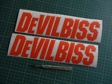 2x Devilbiss Wall Decal Spray Gun Paint Booth Stickers Work Shop Sticker Body