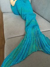 Cute Mermaid Tail Blanket Warm and Soft Sofa Blankets Bedding Wrap For Kids