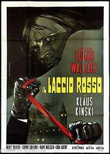 IL LACCIO ROSSO MANIFESTO FILM KLAUS KINSKI EDGAR WALLACE GIALLO MOVIE POSTER 4F