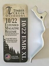 RUGER 10/22 XL EXTENDED MAGAZINE RELEASE LEVER ANODIZED SILVER - 10/22 EMR XL