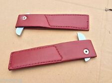 AUSTIN HEALEY SPRITE, MG MIDGET '62-'79  DOOR RED CHECK STRAPS X3R3220bay4-a9
