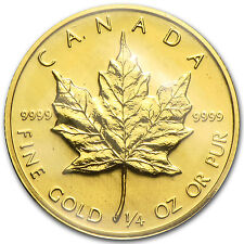 1982 1/4 oz Gold Canadian Maple Leaf Coin - Brilliant Uncirculated - SKU #82819
