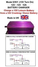 HORSEBOX 12V to 12V BATTERY TO BATTERY CHARGER 12A 144W Model E931 13V Turn On