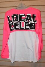 NEW WOMENS PLUS SIZE 3X HOT PINK & WHITE LOCAL CELEB CELEBRITY FAMOUS SHIRT TOP