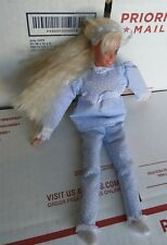 Barbie Bed Time Soft Body Blonde Blue Pajamas Doll