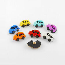 20pcs Acrylic Shank Buttons 1-Hole Dyed Car Mixed Color Kid Craft Garment Sewing