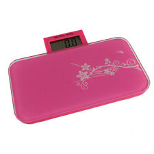 Electronic Digital Portable Personal Bathroom Fat Weight Scale 330lb/150kg Pink