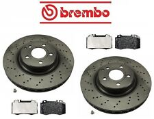 NEW Mercedes W211 SL500 2003 Front Disc Brake Rotor & Pads Kit Brembo