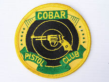 VINTAGE COBAR PISTOL CLUB EMBROIDERED SOUVENIR PATCH WOVEN CLOTH SEW-ON BADGE