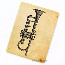 Trumpet Deco Magnet, Decorative Fridge Antique Illustration Mini Gift Décor
