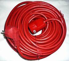 Câble de rallonge 25m rouge Extension de la mise à la terre Prise électrique
