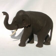 Teak Wooden Elephant Trunk Up 18cm long Handcarved in Thailand Fair Trade