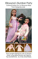 Slumber Party Doll Clothes Sewing Pattern for Ellowyne Wilde, Tonner
