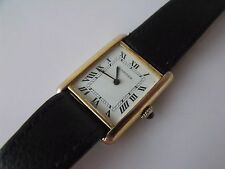 LADIES GOLD PLATED .925 SILVER CASED CARTIER WRIST WATCH