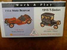 GLENCOE #3607 1914 STUTZ BEARCAT & 1915 FORD MODEL T , SUITABLE FOR O GAUGE, NEW