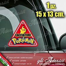 Adesivo Stickers Auto Moto Camper CACCIATORE POKEMON ON BOARD 3 segnale a bordo