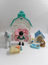 Fisher Price Loving Family Stable Horse Rider Pets Kennel Dog House Lot