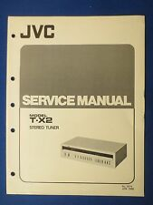 JVC T-X2 TUNER SERVICE MANUAL ORIGINAL FACTORY ISSUE ORIGINAL THE REAL THING