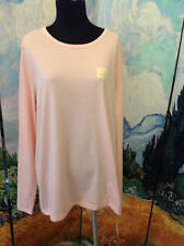 SONOMA PLUS 1X FITNESS PINK ROUND NECK COTTON BLEND SEAM DETAIL LONG SLEEVE TOP