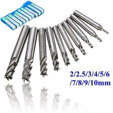 10Pcs 4 Flute Carbide End Mill CNC Router Tools 2-10mm Dia Milling Cutter (27)