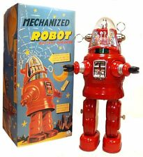 Mechanized Robby the Robot Japan Osaka Tin Toy Limited Edition RED