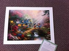 Thomas Kinkade Mickey & Minnie - Sweetheart Signed & Numbered Disney Lithograph