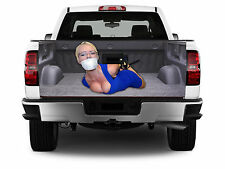 T318 Tied Up Girl TAILGATE WRAP Vinyl Graphic Decal Sticker Tint Bed Cover