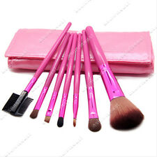NEW 7 Pcs Make Up Brush Set with Pink soft Case Free Shipping