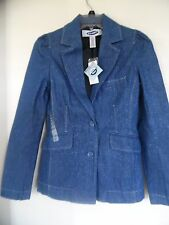 OLD NAVY DENIM JEAN SILVER SPARKLE BLAZER JACKET COAT XS