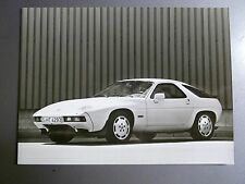 "1985 Porsche 928 S Coupe B&W Press Factory Issued Photo ""Werkfoto"" RARE! Awesome"