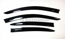 4 DOOR BLACK RAIN VISOR WEATHER GUARDS FOR MAZDA2 MAZDA 2 SEDAN 2015 SKY ACTIVE
