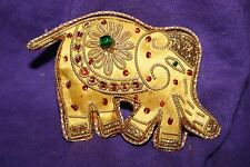 Stitched Nomad Ornament, Elephant w/beaded Details
