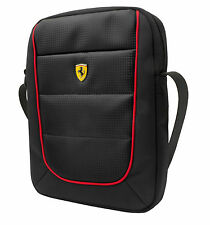 "Genuine Ferrari SCUDERIA - Tablet Bag - Black with Red Piping 10"" Retail Packed"