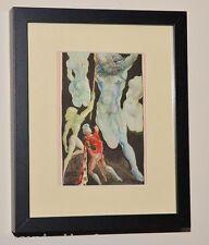 SALVADOR DALI Listed Artist GENUINE 1946 Color Print in MUSEUM BLACK FRAME #5