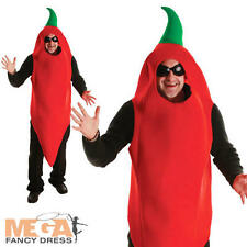 Vindaloo Red Chili Chilli Fancy Dress Mens Ladies Mexican Food Costume Outfit