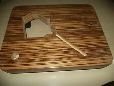 Plinth for Lenco L70, L75, L78 model PTP4 mod. zebrawood