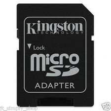 BRAND NEW 1 KINGSTON MICRO SD TO SD HC SDHC MEMORY CARD READER ADAPTER LAPTOP