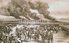 Anglo Zulu Guerra quema de Ulundi British Army Empire África Impresión 7x4 pulgadas